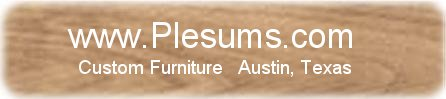 Logo for Plesums Woodworking