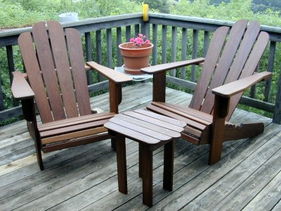 Adirondack Chairs in Ipe wood at wwwplesumscomwood