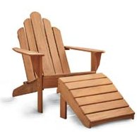 Genial Smithu0026Hawkins Offered A Teak Adirondack Chair At A Reasonable Price   For  Teak ($499 For The Chair, $199 For The Footrest). Teak Is A Durable Wood,  ...