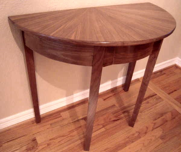 Entry Tables At Plesums Com Wood Breathtaking Half Circle Wall Table Marvellous